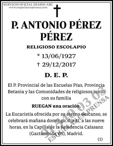 Antonio Pérez Pérez